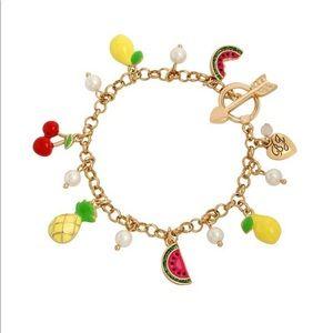 Betsy Johnson Fruit Charm Bracelet